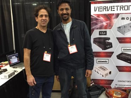 Dean Zelinsky at VerveTronix booth Namm 2016